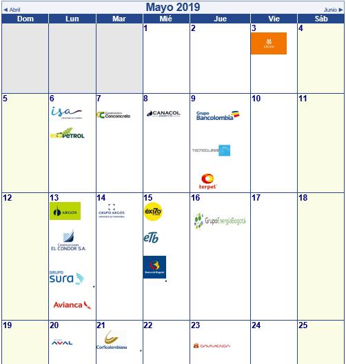 Calendario Colombiano.Actualizacion Calendario De Resultados Bolsa De Colombia