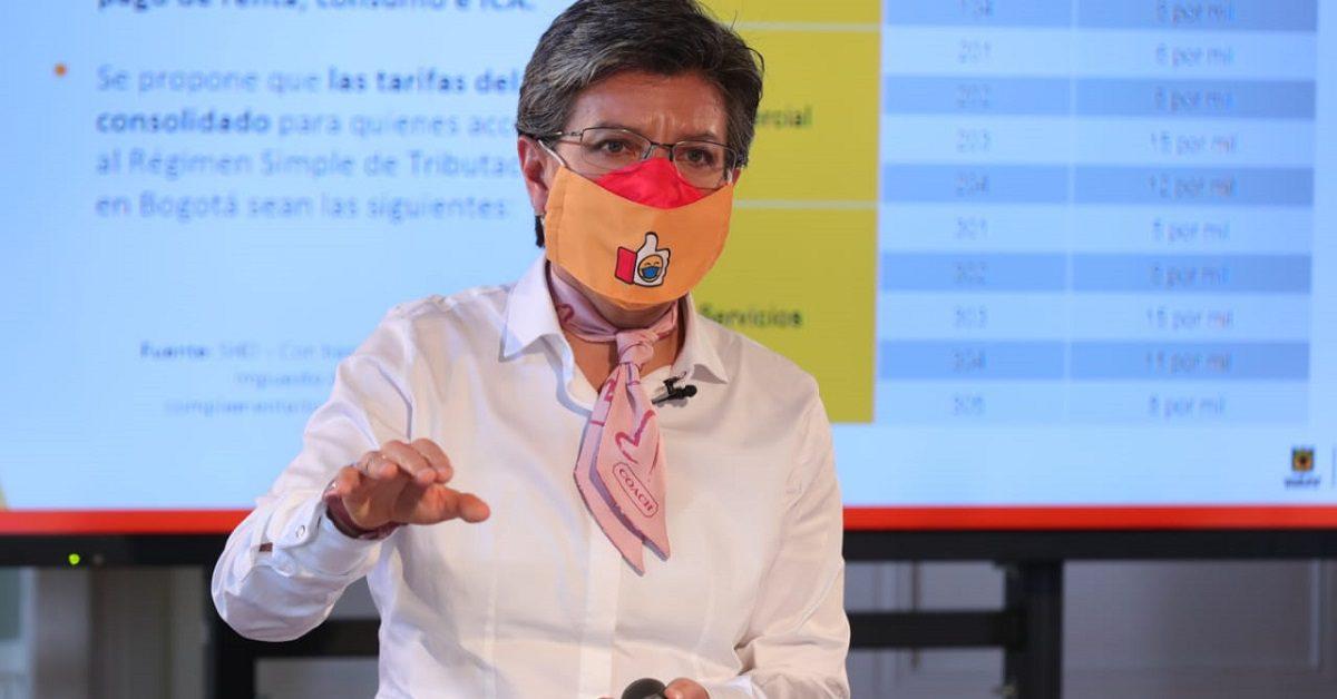 Claudia López (Foto Alcaldía de Bogotá)