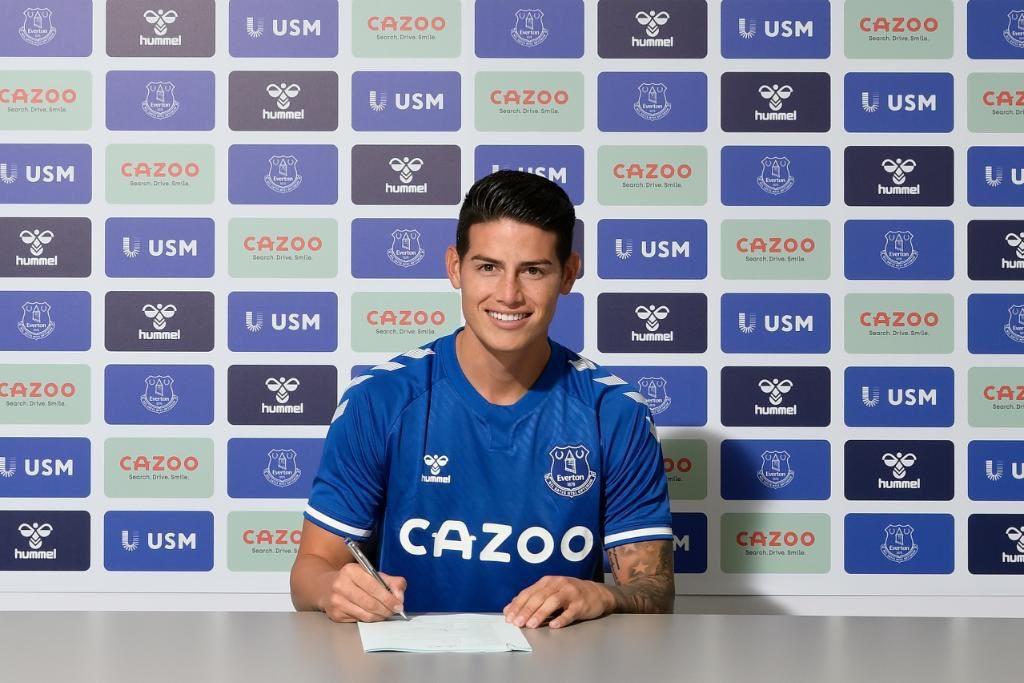 James llega al Everton de Inglaterra con una caída del 60 % en su valor de mercado