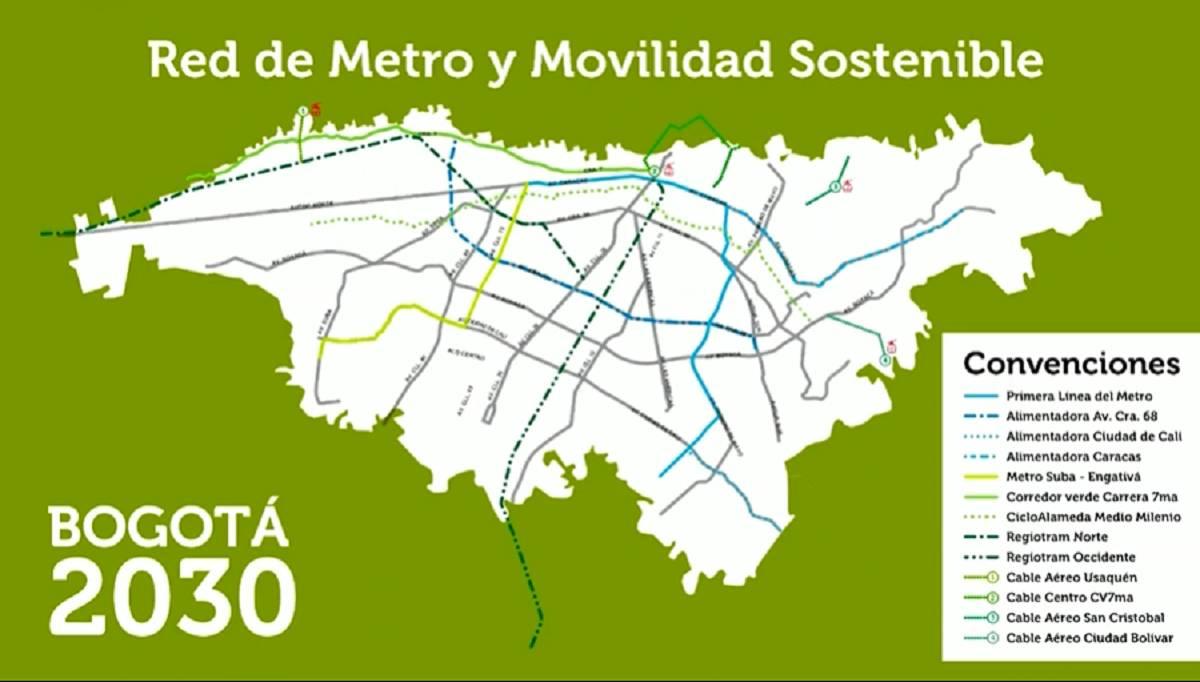 Segunda línea del Metro de Bogotá llegará a localidades de Suba y Engativá