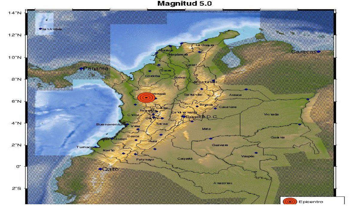 Ahora | Sismo de magnitud 5,1 se sintió fuertemente en Antioquia