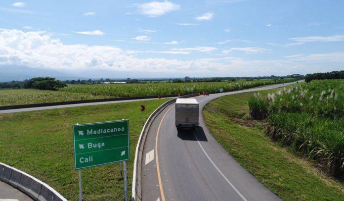 Accesos Cali-Palmira. Foto: Cortesía del Ministerio de Transporte.